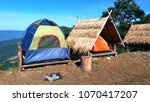 the camping blue green and... | Shutterstock . vector #1070417207