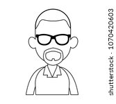 young man faceless cartoon on... | Shutterstock .eps vector #1070420603