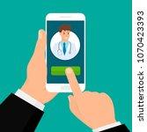 online mobile medical concept.... | Shutterstock .eps vector #1070423393