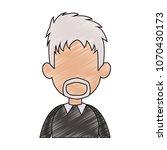 old man faceless profile... | Shutterstock .eps vector #1070430173