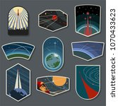 vector space expedition emblems ... | Shutterstock .eps vector #1070433623