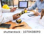 engineers plan to complete... | Shutterstock . vector #1070438093