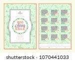 spring sale catalog design.... | Shutterstock .eps vector #1070441033