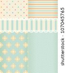 Background in shabby chic style. Rasterized version of vector illustration - stock photo