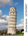 Leaning Tower Of Pisa. Summer...