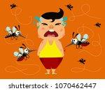 dengue fever. boy crying...   Shutterstock .eps vector #1070462447