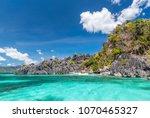 view of coron island beach ...   Shutterstock . vector #1070465327