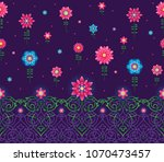 vector seamless pattern with... | Shutterstock .eps vector #1070473457