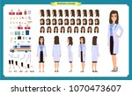 female doctor character... | Shutterstock .eps vector #1070473607