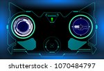hud futuristic elements... | Shutterstock .eps vector #1070484797