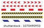 set of danger and police lines... | Shutterstock .eps vector #1070490953