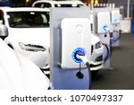 power supply for electric car...   Shutterstock . vector #1070497337