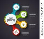 vector circles on a dark... | Shutterstock .eps vector #1070511137