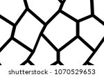 black and white irregular grid  ... | Shutterstock .eps vector #1070529653