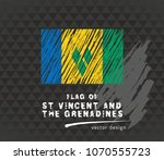 flag of saint vincent and the... | Shutterstock .eps vector #1070555723