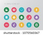 set of 15 editable kin icons....