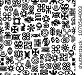 seamless african adinkra... | Shutterstock .eps vector #1070564003
