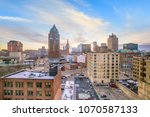 downtown skyline with buildings ...   Shutterstock . vector #1070587133