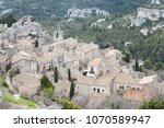 aerial view to medieval...   Shutterstock . vector #1070589947