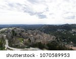 aerial view to medieval...   Shutterstock . vector #1070589953