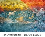 multicolored abstract texture... | Shutterstock . vector #1070611073