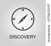 discovery icon. discovery... | Shutterstock .eps vector #1070625197