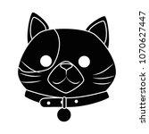 cute cat mascot head character | Shutterstock .eps vector #1070627447