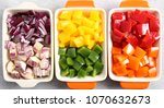 colorful vegetables diced in...   Shutterstock . vector #1070632673