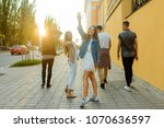 girl posing for a photo with... | Shutterstock . vector #1070636597