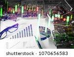 charts of financial instruments ... | Shutterstock . vector #1070656583