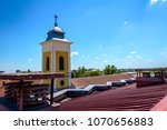 View on the church steeple with ...