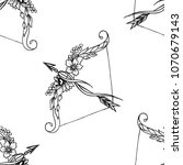 seamless pattern on a bow and... | Shutterstock . vector #1070679143