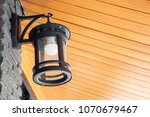 classic night lamp on wall... | Shutterstock . vector #1070679467
