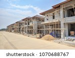 house under construction with... | Shutterstock . vector #1070688767