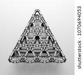 3d render abstract  geometrical ... | Shutterstock . vector #1070694053