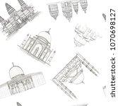 hand drawn architecture sketch... | Shutterstock . vector #1070698127