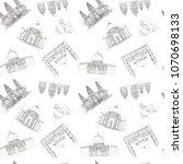 hand drawn architecture sketch... | Shutterstock . vector #1070698133