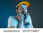 the anger and screaming man.... | Shutterstock . vector #1070714807