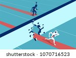 humans vs robots. business... | Shutterstock .eps vector #1070716523