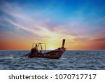traditional thai long boat at... | Shutterstock . vector #1070717717