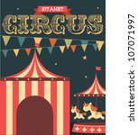vintage circus poster template... | Shutterstock .eps vector #107071997