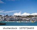 saint peter port   guernsey....   Shutterstock . vector #1070726603