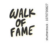 walk of fame. sticker for... | Shutterstock .eps vector #1070730827