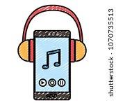 doodle smartphone technology... | Shutterstock .eps vector #1070735513