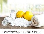 lemon and sea salt   beauty...   Shutterstock . vector #1070751413