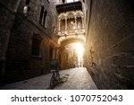 barcelona people biking bicycle ... | Shutterstock . vector #1070752043