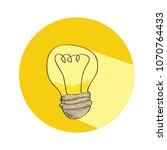light bulb icon | Shutterstock .eps vector #1070764433