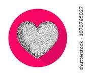 heart icon vector illustration | Shutterstock .eps vector #1070765027