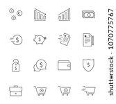business finance line icon set  ... | Shutterstock .eps vector #1070775767
