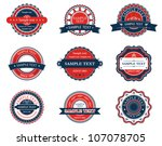 Set of retro labels for sticker, badge or emblem design, such logo. Jpeg version also available in gallery - stock vector